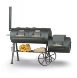 "SMOKY FUN Party Wagon 24"", profi gril lokomotiva, 6 mm ocel"