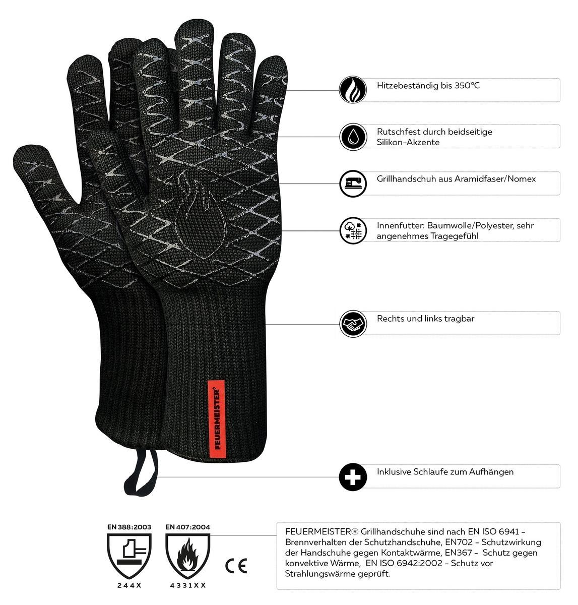 1838add5901 Kevlarové grilovací rukavice BBQ Premium - pár