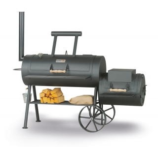 "SMOKY FUN Party Wagon 20"", profi gril lokomotiva, 6 mm ocel"